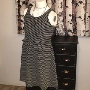 F21 black and white striped dress